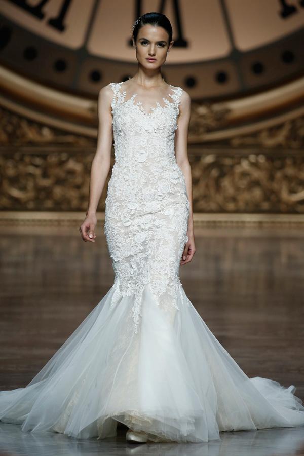 Blog Svadobné šaty Pronovias 2016  Rafinované línie a luxusné ... 03b8b19425b
