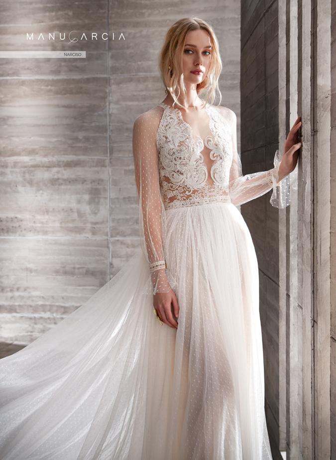 0b4bb3b69412 Handmade svadba Svadobné šaty Manu Garcia  Vo svetle romantického ...